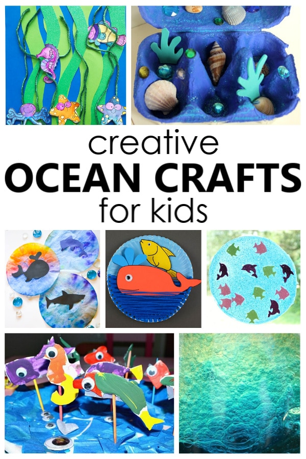 Creative Ocean Crafts for Kids. Fun kids craft projects for an ocean theme or summer activities.
