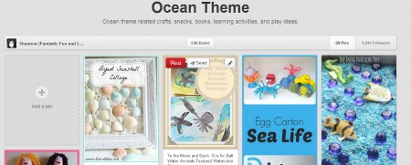 Ocean Theme Pinterest Board