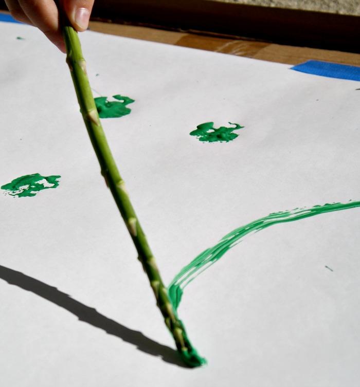 Asparagus paint brush
