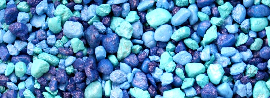 Blue Aquarium Gravel