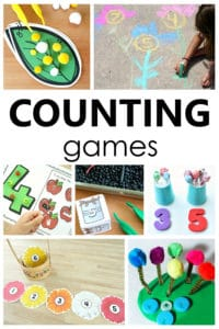 These counting games for preschoolers and kindergarteners will help kids learn to count and recognize numbers in a playful way.