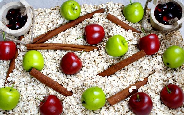 Fall Apples Sensory Bin