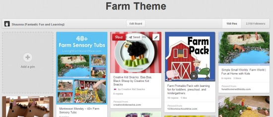 Farm Theme Pinterest Board