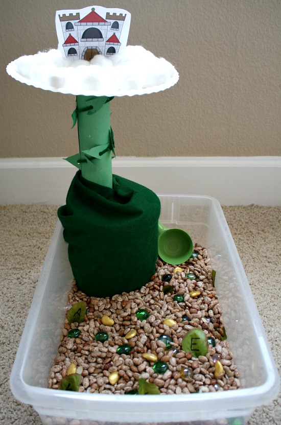 Jack and the Beanstalk Pretend Play and Sensory Bin
