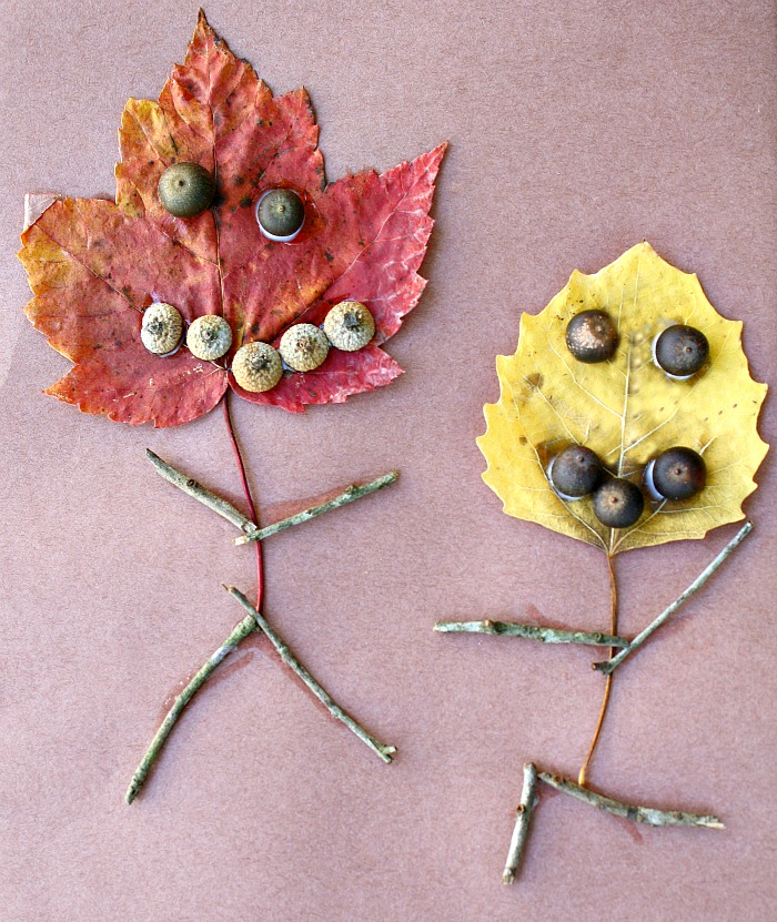 Leaf People Fall Craft