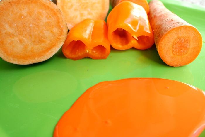 Painting with orange vegetables