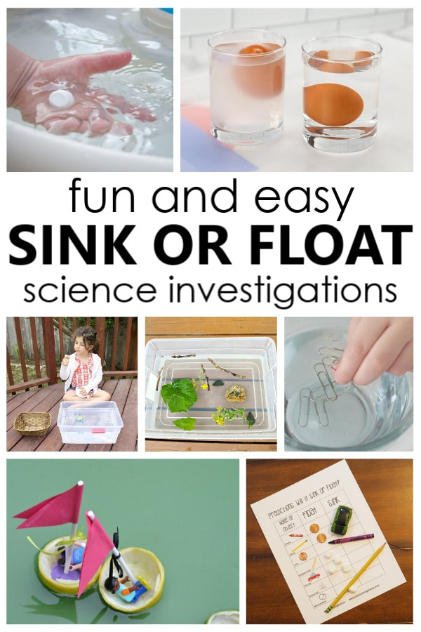 Sink or Float Science Investigations for Toddlers and Preschoolers