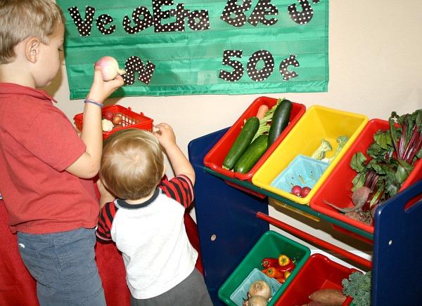 Vegetable Stand Preschool Activity