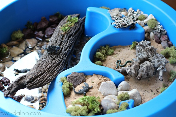 Reptile Small World and Sensory Play