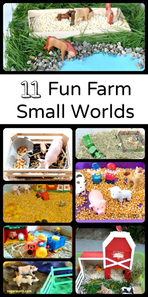 11 Fun Farm Small Worlds