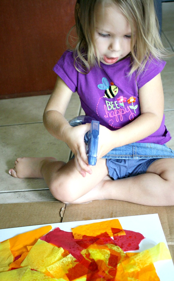 Bleeding Tissue Art Toddler Activity