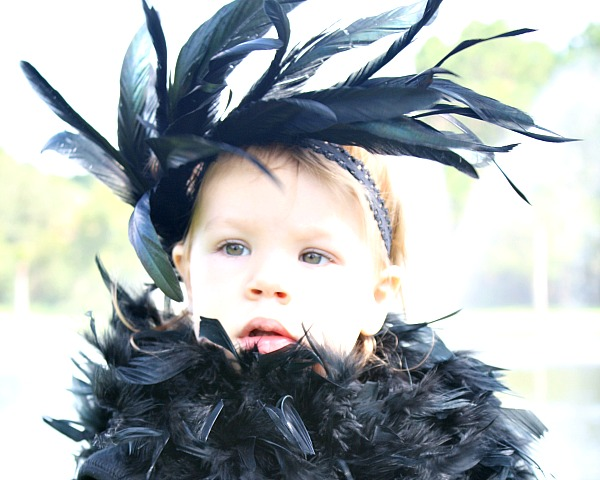 Easy DIY Halloween Costume for Kids-Crow