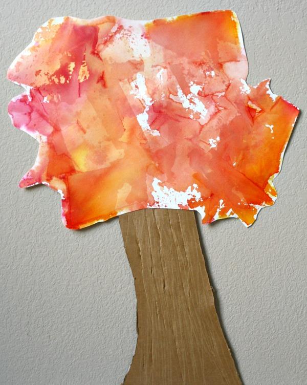 Tissue Paper Art Fall Tree Craft