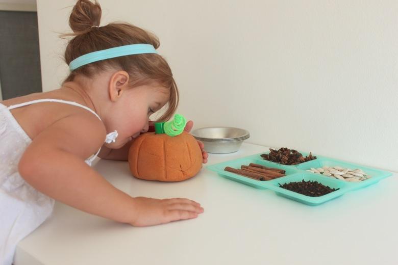 pumpkin spice play dough