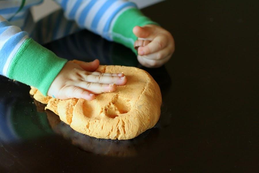 pumpkin pie play clay