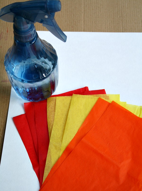 Invitation to Create Fall Bleeding Tissue Art