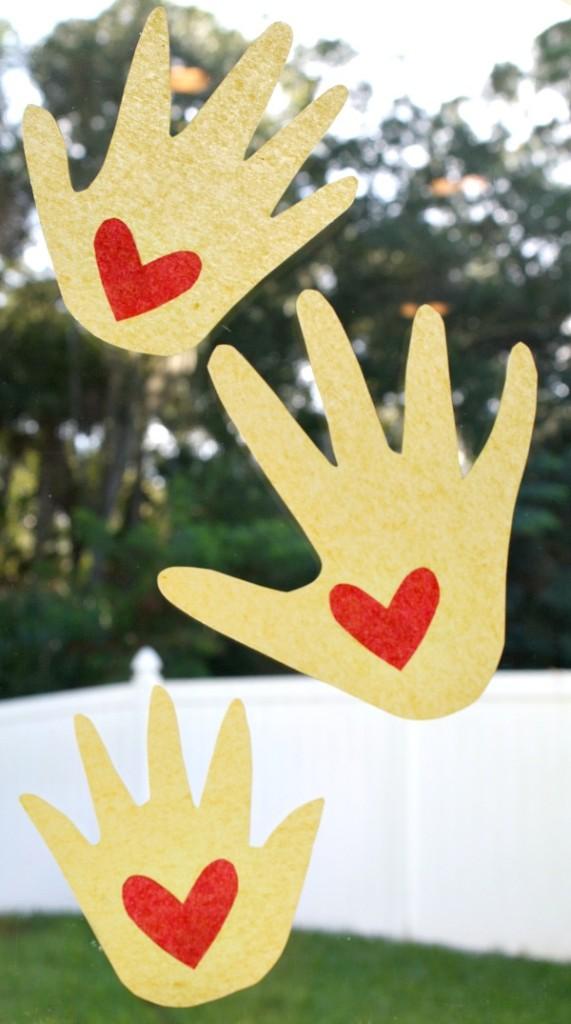 Kissing Hand Suncatcher Craft