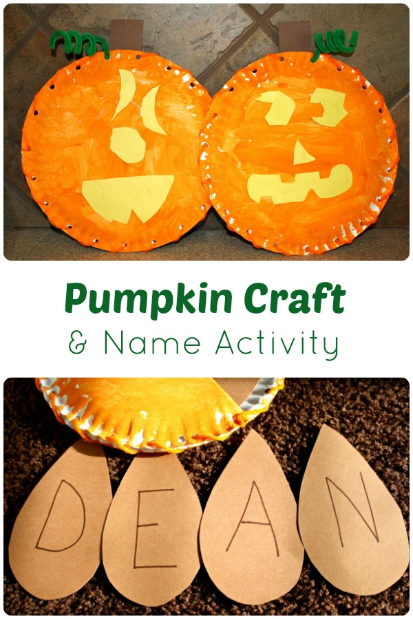 Pumpkin Craft and Name Activity