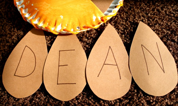 Pumpkin Name Craft