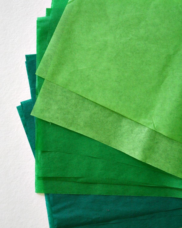 Tissue Paper Apple Tree Invitation to Create