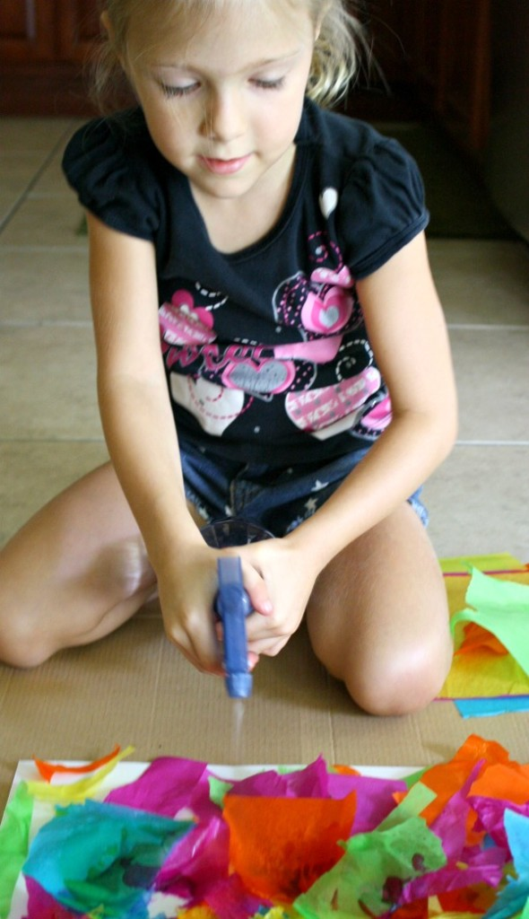 Tissue Paper Art Activity for Kids