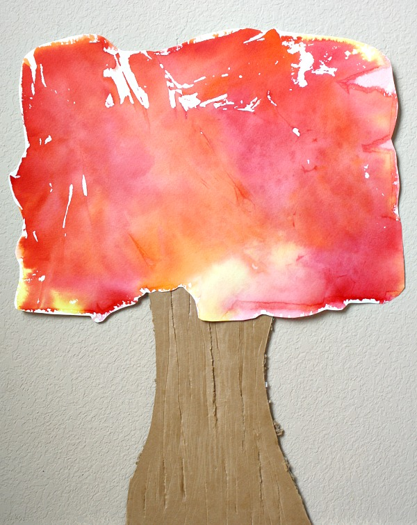 Tissue Paper Art Fall Tree Craft