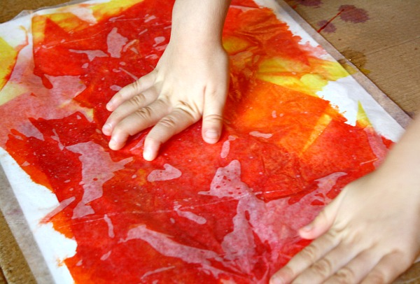 Tissue Paper Art for Kids