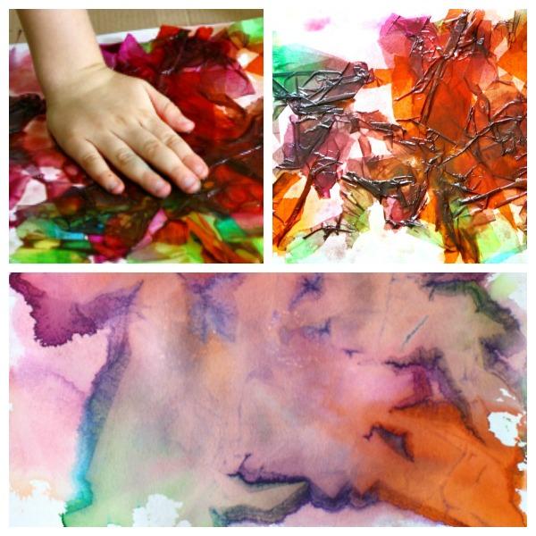 How to Make Bleeding Tissue Paper Art