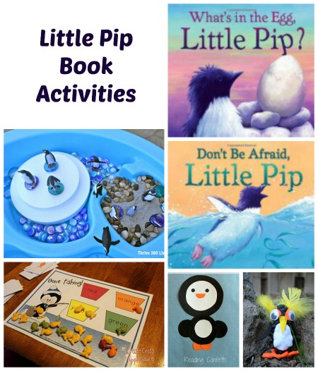 Book Activities to go along with Karma Wilson's Little Pip Books or any penguin stories