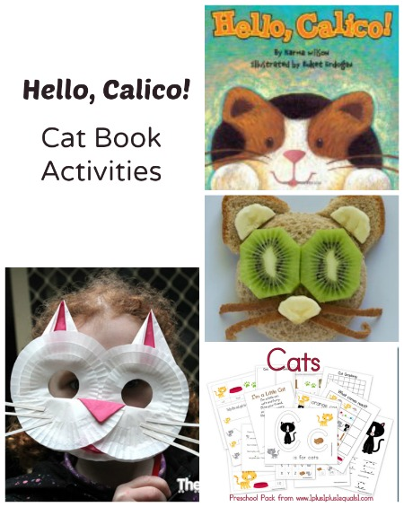Cat Book Activities to go along with Hello Calico or any other book activities