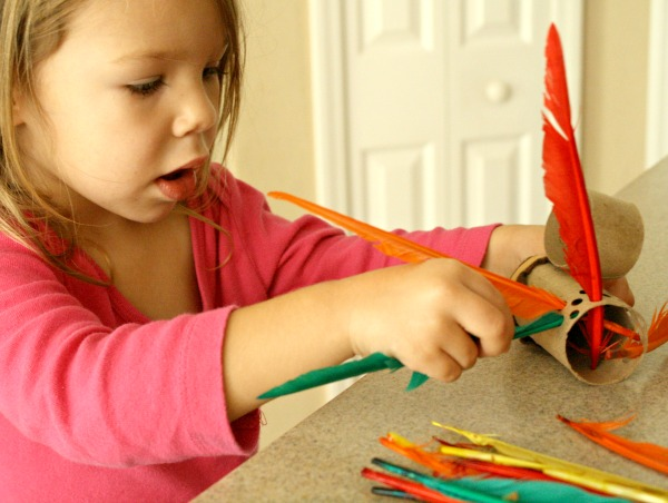 Feather fine motor activity