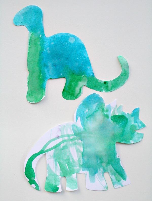 Glitter Watercolors Painting