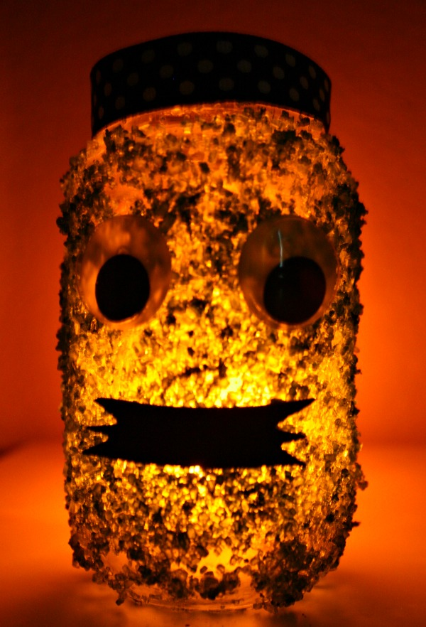 Green Monster Halloween Jar Candle