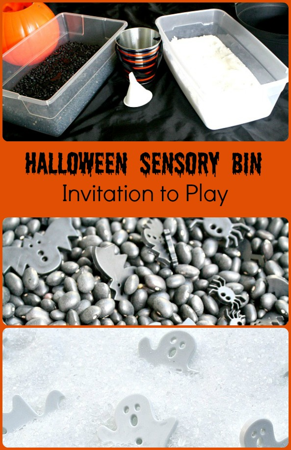 Halloween Sensory Bin~Simple Invitation to Play for Toddlers