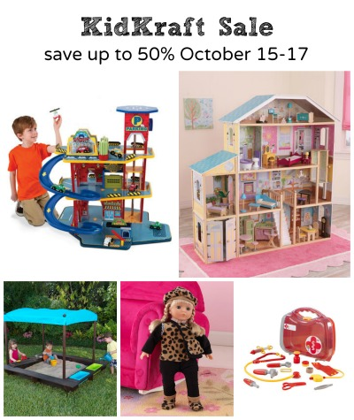 KidKraft Sale-Save up to 50 off on KidKraft items from October 15-17