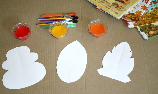Learning About Fall Leaves-Art and Science Activity