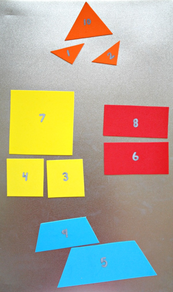 Magnetic Rocket Craft and Math Activities-Sorting by Shape