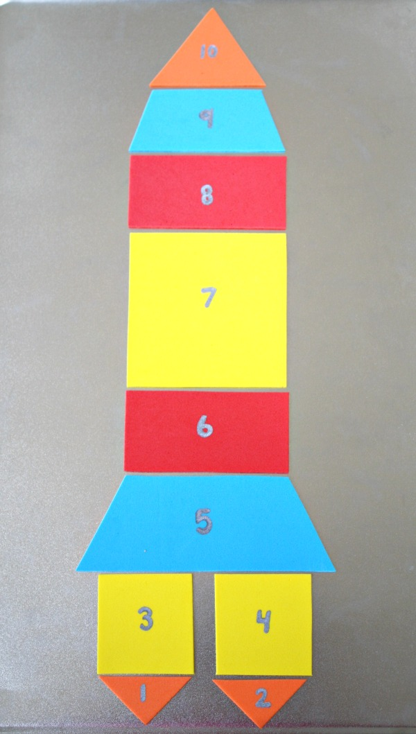 Magnetic Rocket Puzzle and Math Activities