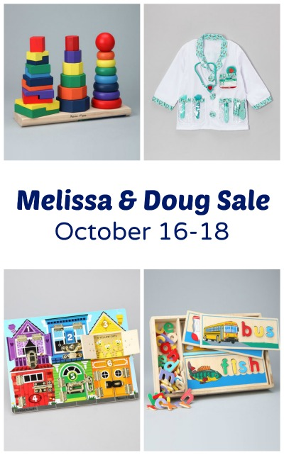 Melissa and Doug Sale-Some of our favorites are included in this sale starting on October 16