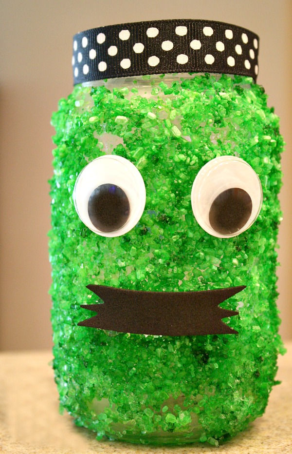 Halloween Crafts For Kids Pumpkin And Monster Jars