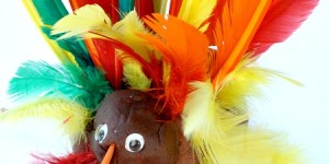 Play Dough Turkey for Preschool