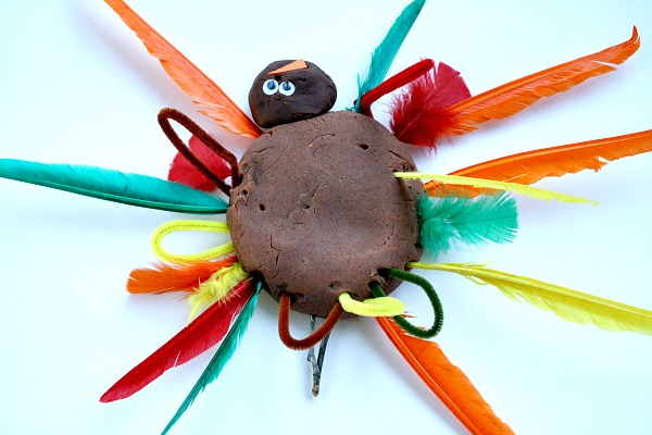 Play Dough Turkey for Toddlers