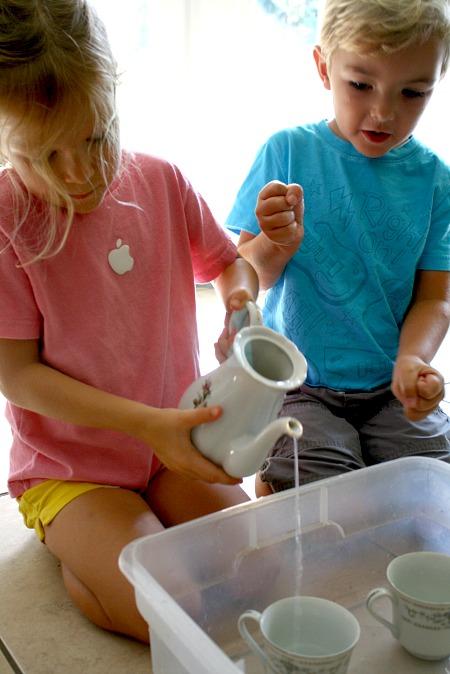 Pouring Tea Preschool Activity