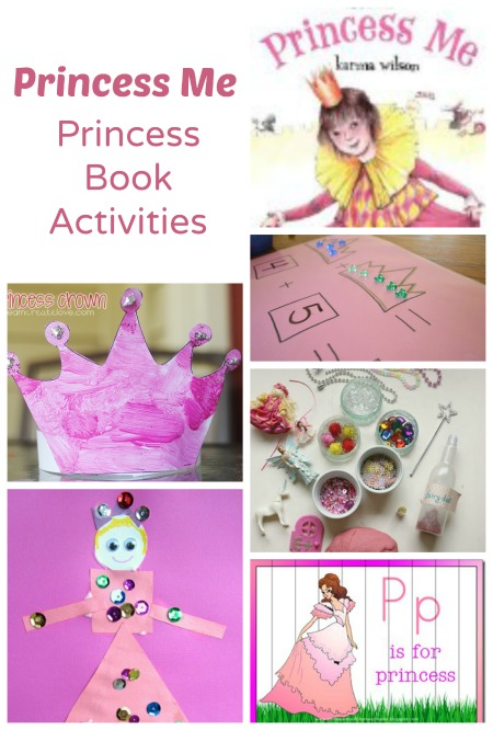 Princess activities to go along with Princess Me or any other princess books