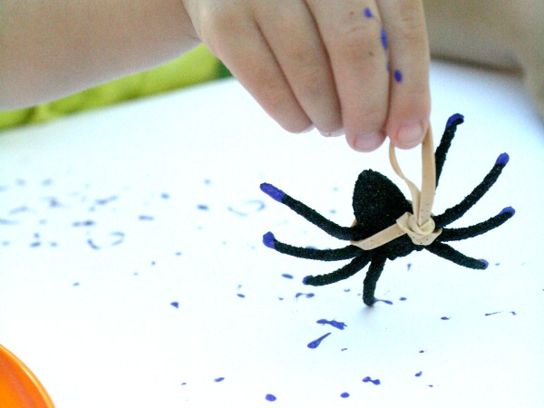 Spring Painting with Spiders