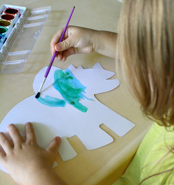 Toddler Painting-Dinosaur Activities