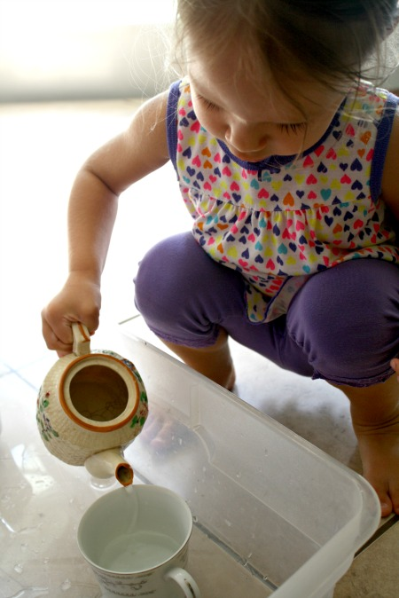 Pouring Tea Toddler Activity