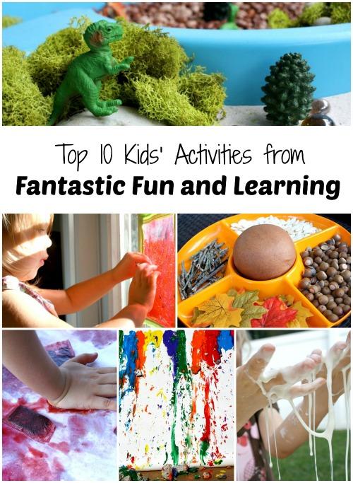 Top 10 Kids' Activities from Fantastic Fun and Learning-Our favorite posts from our first year blogging.
