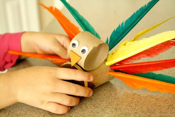 turkey craft, tp roll turkey