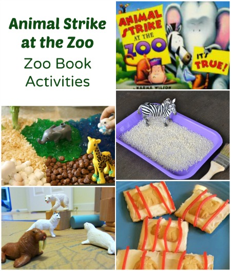 Zoo Animal Activities to go along with Animal Strike at the Zoo or any zoo book